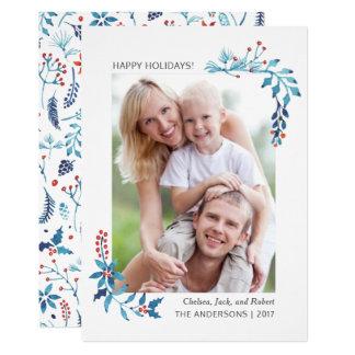 Foto | van Kerstmis van het Gebladerte van de 12,7x17,8 Uitnodiging Kaart