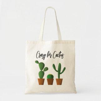 Fou pour le sac fourre-tout à cactus