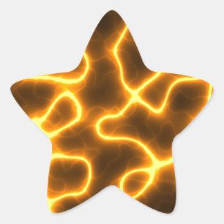 Foudre électrique sticker étoile