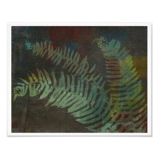 Fougère abstraite impression photo