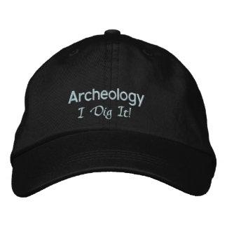Fouille de l'archéologie I il Casquette Brodée