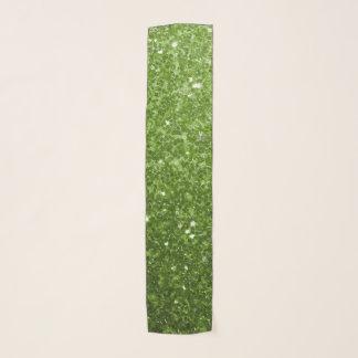 Foulard Belles étincelles de parties scintillantes de vert
