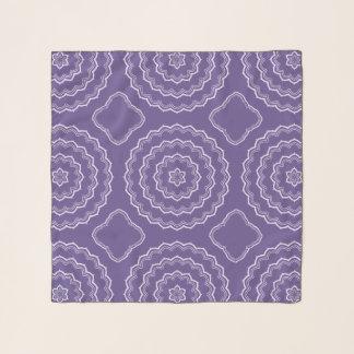 Foulard Copie ultra-violette de motif de mandala