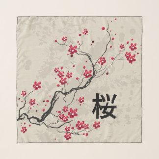 Foulard Fleurs de cerisier orientales de Sakura de style