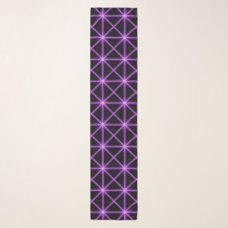 Foulard Grille rougeoyante pourpre