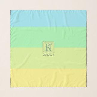 Foulard La palette de couleurs de chaux d'océan d'été