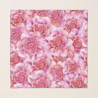 Foulard Lavande florale de cactus rose de Succulents