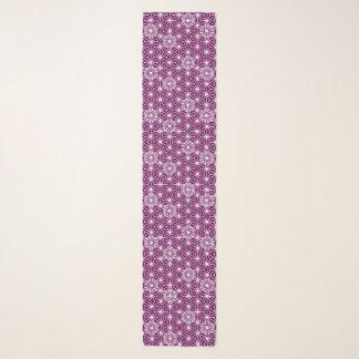 Foulard Motif d'Asanoha de Japonais - pourpre d'aubergine