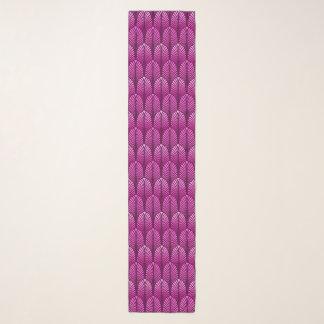 Foulard Motif de plume d'art déco, pourpre d'améthyste