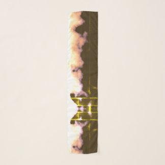 Foulard Regard âgé vintage de lumière jaune d'effet de