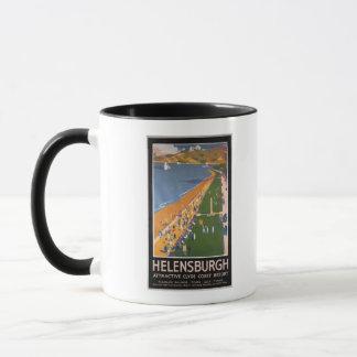 Foules le long d'affiche de chemins de fer de mug