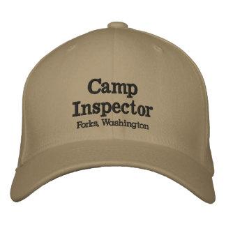 Fourchettes d'inspecteur de camp, casquette de