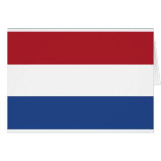 Fourgon Nederland - drapeau de Vlag de Pays-Bas Carte De Vœux
