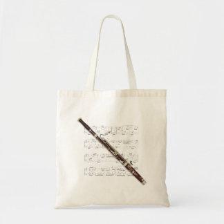 Fourre-tout - musique de basson et de feuille sac en toile budget