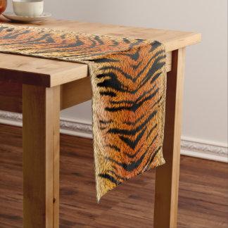 Fourrure d'animal de tigre de Bengale Chemin De Table Court