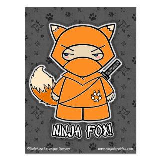 Fox de Ninja ! Carte postale
