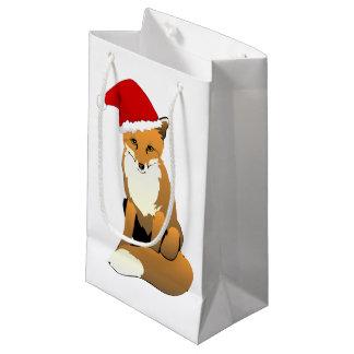 Fox de Père Noël Petit Sac Cadeau