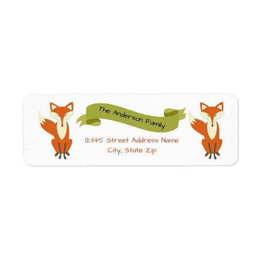 Fox de région boisée - Étiquettes de adresse