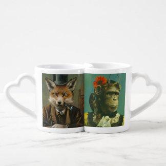 Fox et tasses d'amants de chimpanzé