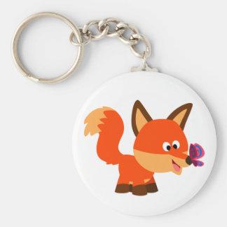 Fox mignon de bande dessinée et porte - clé de porte-clés