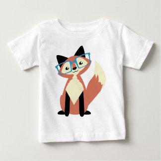 Fox mignon en verre de hippie t-shirt pour bébé