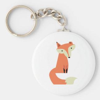 Fox Porte-clé Rond