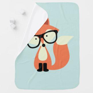 Fox rouge de hippie mignon couverture pour bébé