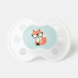 Fox rouge de hippie mignon tétines pour bébé
