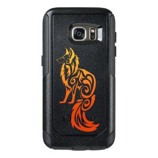 Fox rouge Kitsune de tribal de Firey Coque OtterBox Samsung Galaxy S7