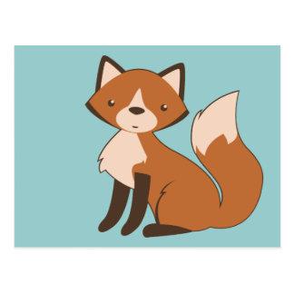 Fox se reposant mignon carte postale