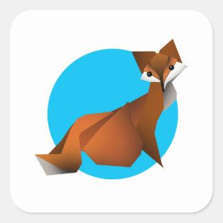 Fox Sticker Carré