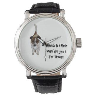 Fox Terrier, amour est logo, la montre en cuir des