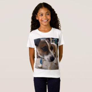 Fox Terrier, attraction, T-shirt de blanc de
