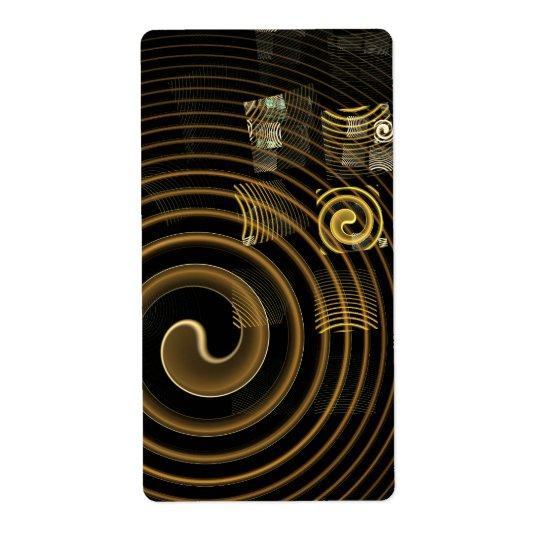 Fractale d'art abstrait d'hypnose étiquette d'expédition
