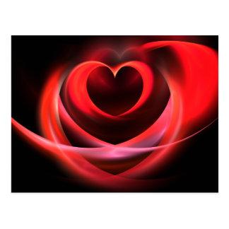 Fractale de coeur carte postale