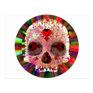 Fractale de crâne carte postale