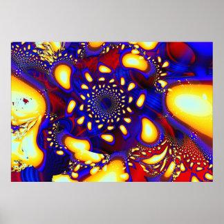 Fractale en verre fondue psychédélique de KaleidoB