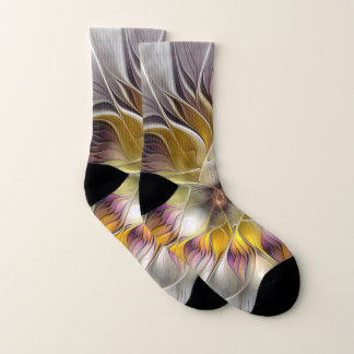 Fractale moderne de fleur colorée abstraite
