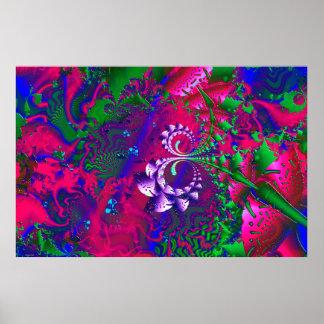 Fractale psychédélique de Nerdberries Poster