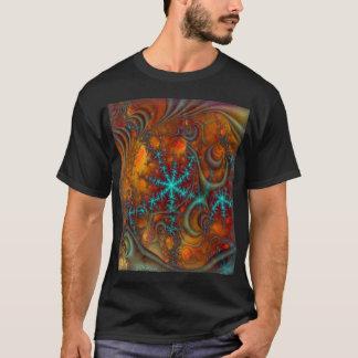 Fractale psychédélique de techno t-shirt