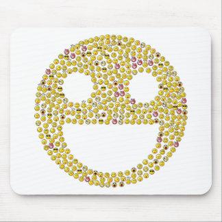 Fractale souriante de visage tapis de souris