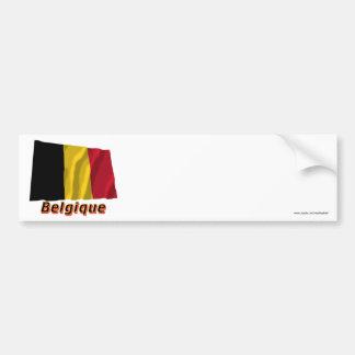 Français de Drapeau Belgique avec le nom en Autocollant De Voiture