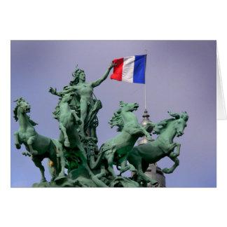 Français de Drapeau - carte postale de Paris4
