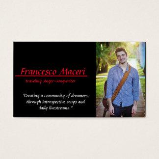 """Francesco Maceri"" carte de visite '3.5x2.0'"