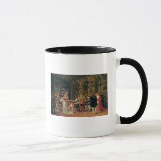 Francis I recevant une peinture du saint Mug