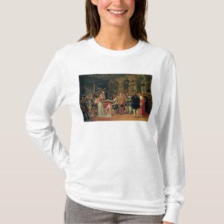 Francis I recevant une peinture du saint T-shirt
