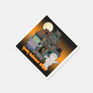 Frankenstein et serviettes de papier de Halloween Serviettes Jetables