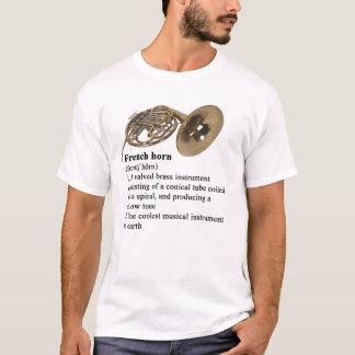 Franse bepaalde hoorn t shirt