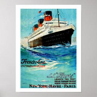 Franse ss Parijs van de Lijn ~ Poster