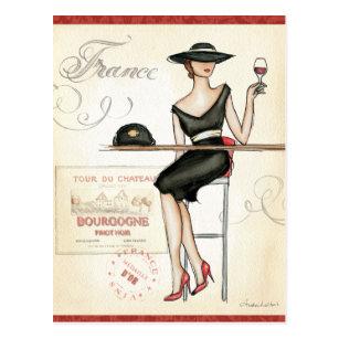 Wijn Vrouw Briefkaarten Zazzle Be